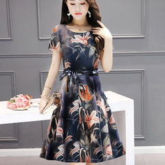 Mom summer 2019 new dress for middle-aged and elderly women m Graph coloring