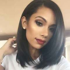 New European and American women's wigs in short hair bobo bobo hair synthetic fiber black All code