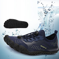 New swimming shoes outdoor mountaineering sports breathable wear-resistant travel outdoor shoes men blue 35