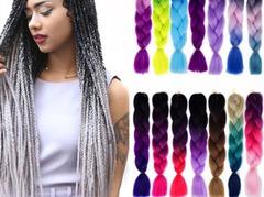 Color personality African big scorpion Gradient color hair viscera wig 1# 60cm
