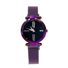 LSVTR new net red vibrato with the same magnet iron lazy ladies quartz stone watch purple brand: lsvtr