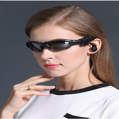 Smart Bluetooth Glasses Stereo Wireless Ride Driving Bluetooth Headset One Sunglasses Polarizer Polarized black + storage bag Standard