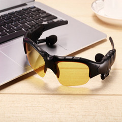 Smart Bluetooth Glasses Stereo Wireless Ride Driving Bluetooth Headset One Sunglasses Polarizer yellow Standard