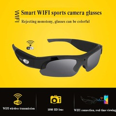 MS16 smart WIFI sports HD camera glasses black Wide angle 140 degrees