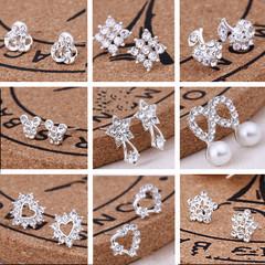2 Pair KSH 79 Oasis 1 pair new arrival 925 silver Korean earrings studs for women gift #13 #14 2 pair(note earring number) one size
