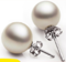 Oasis 1 Pair Round Pearl 925 Silver Flash Sales Top Selection Special Offer Earring Gift For women silver one size