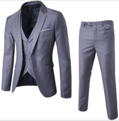 Suits Men Clothes Men Clothes Clothes For Men Suit (Suit + Waistcoat + Trousers)  Wedding Dress red L