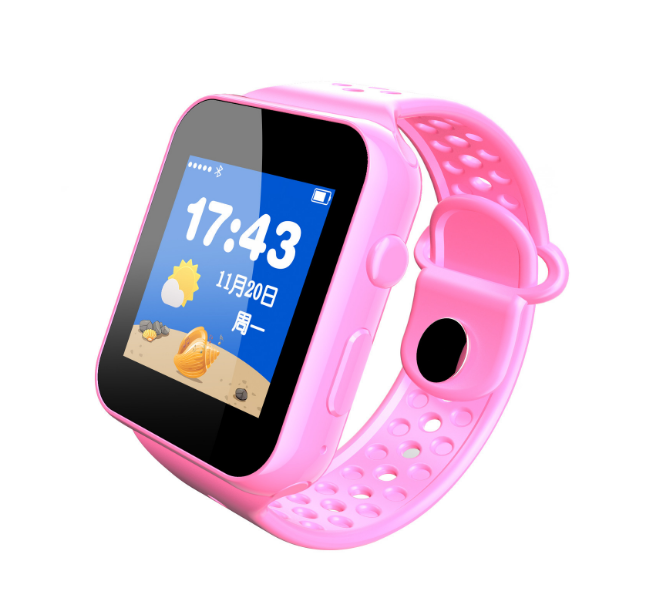 Bluetooth Watch Children's Positioning Watch  Positioning Micro-chat Remote Monitoring Smart Watches pink normal