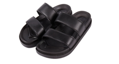 Shoes Men Shoes Sandals and slippers Fashion Double-strapped  Anti-skid and wear-resistant sandals black 35