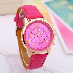 Watches Watchs Watch Women Watched Watches ladies Leather Watchband Watch Three-Eye Quartz Watch blue normal