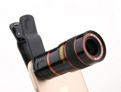 2019 Mobile Week Mobile Lens Mobile Lense Mobile Lenses Mobile Phone Long Focus Telescope Lens black 8X  Zoom