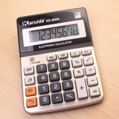 Calculator Metal Desktop Electronic Calculator Business Multifunctional Calculator for Daily Use white
