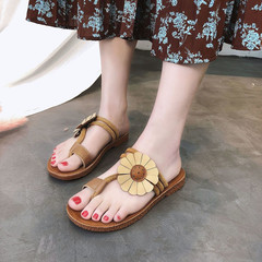 Shoes Shoe s  Shoes Women Shoes Ladies Shoes Flats Shoe Ladi  Sandals with Unique Shape Flowers brown 35
