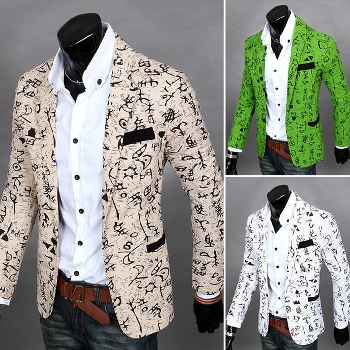 Suits Men Clothes Men Clothes For Men Suits For Men Men's Trendy Little Flower Suit Men Suits white M