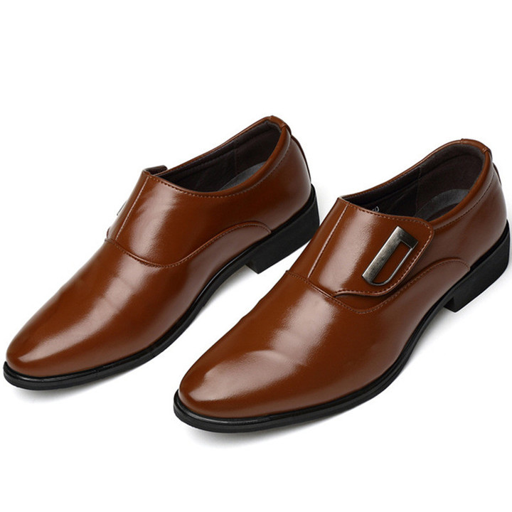 Leather Shoes For Men  Shoes Shoe Men Men's Formal Leather Shoes British Pointed Shoes brown 45 leather