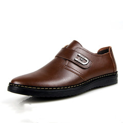Leather Shoes Men leather Shoes Mens Shoe Men Boots Men Men's Flat Sole Formal Leather Shoes brown 38 leather
