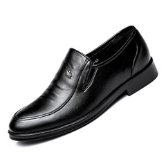 Shoes Men's Formal Leather Shoe Men Boots Men's Business Footwear Men's Leather Shoes For Wedding black 38 leather