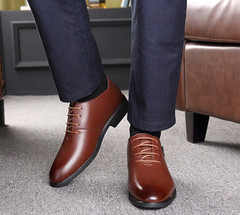 Leather Shoes Men Leather Shoe Men Formal Leather Shoes Business Leather Shoes for Men Wedding brown 38 leather