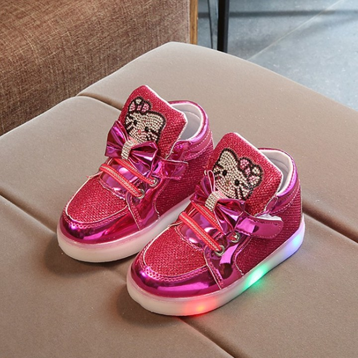 Kids Shoes Girls  Kid Shoes Kids Shoes Girl With LED Light-emitting Shoes Kids Shoes For Girl red 21
