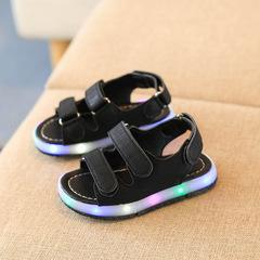 Kids Shoes Girls Kids Luminous Sandals Boys And Girls Shoes With Luminous Beach Shoes For  Boys black 21