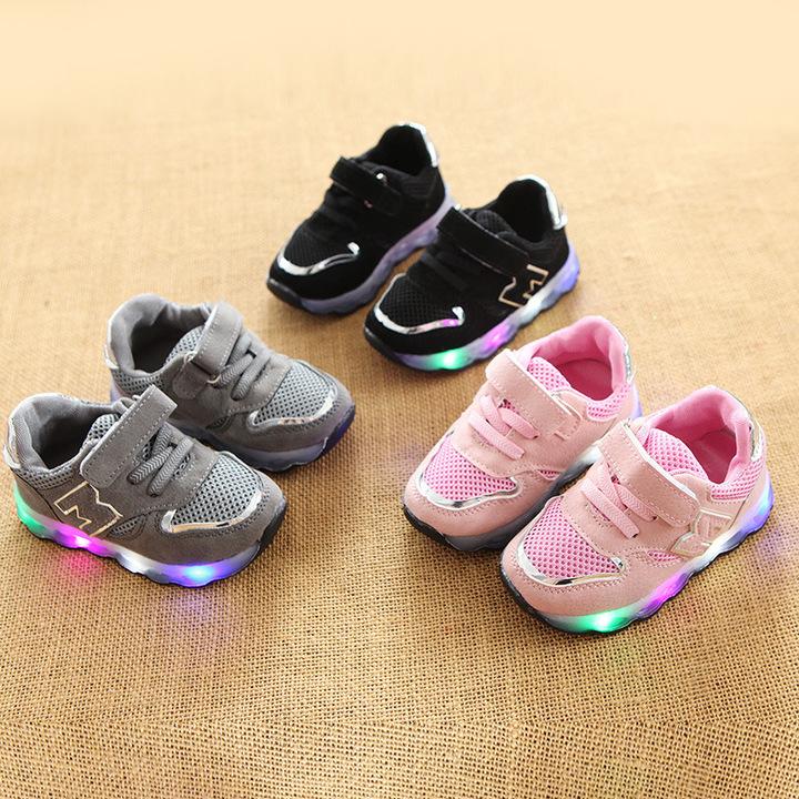 Kids Shoes Boys Shoes Boys  Light-emitting Shoes Air-permeable  Light-emitting Kids Shoes For Boys black 21