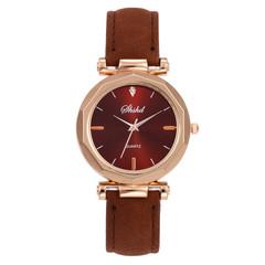 Women Watches Ladies Watche  Grinded Belt Watches Quartz Watches Fashionable Watchs Watches Women red normal