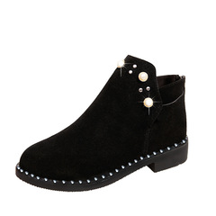 Boots Women Boots Ladies Shoes Women  Ladies Boot Pearl Large Size Boots Leisure Boots For Women black 36