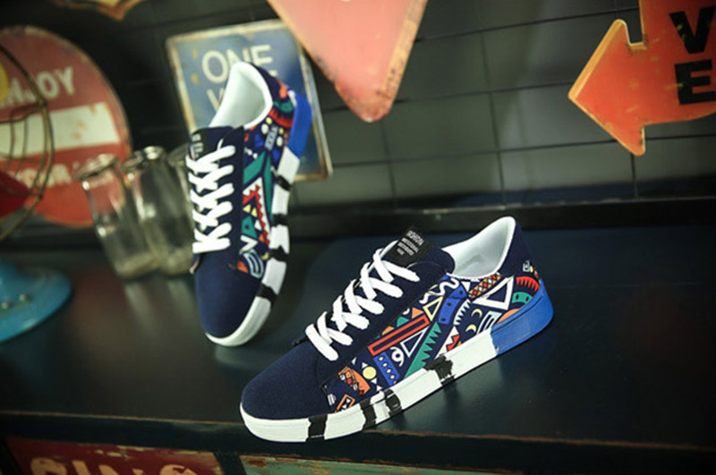 Shoes Men Shoe Men New Men's Leisure Shoes Sneakers Canvas Shoes Sports Shoes Student's Board Shoes blue 39 2