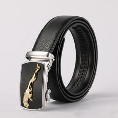 Belts Men Men's Belt New Fashion Automatically Buckles Men's Business Durable Belt gold normal
