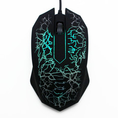 Mouse Mouses Mouse Computer Cable Game Photoelectric Explosion Crack Mouse USB Luminescent Mouse black normal