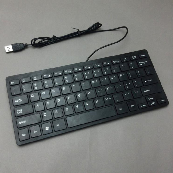 2019 Mobile Week Keyboard Keyboards And USB Cable Keyboard Keyboard For Tablet Slim Cable Keyboard black normal