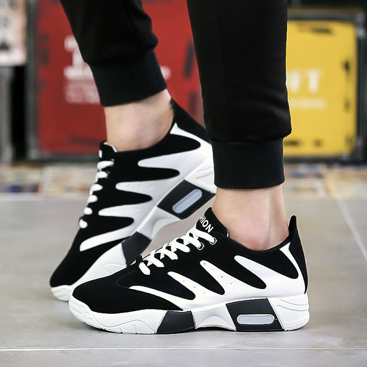 Shoes Men Sneakers Men Sports Shoes Sneaker Men Breathable Sports Shoes Mesh Slip-proof Casual Shoes black 39