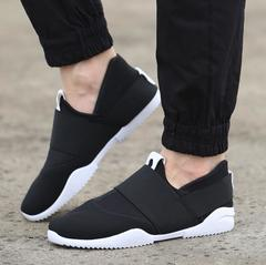 Sneakers Men Shoes Men Fashion Breathable Slip-on Casual Sneakers Mens Shoes For Men black 39