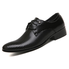 Leather Shoes Men Men's Shoes Business Formal Leather Shoes For Men Point British Wedding Shoes black 38 leather
