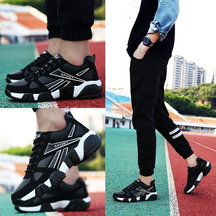 Sneakers Men Shoes Men's Sports Leisure Tourism Board Sneaker Shoes Students Running Shoes For men black 39