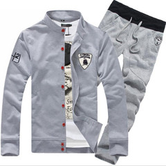 Clothes Men Suits Men Suits For Men Jackets Men Clothes Suit (Men's Top +  Trousers)  Coats Men grey M
