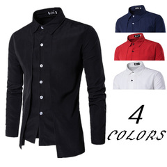 Shirts Men Shirt Men Shirt s Shirts For Men Shirts Two Long Sleeve Shirts With Double Front Shirts white M
