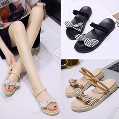 Sandals Women Sandals Ladies Shoes Women With Thick Soles Sandals With Butterfly Knots Shoes Women black 35