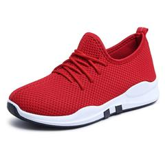 Shoes Women Shoes Ladies Athletic Fashion  Running Shoes Breathable Lace-Up Sneakers Women red 36