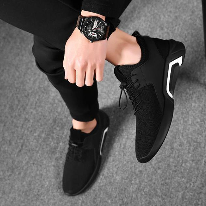 Shoes Men's Shoes Winter Trends Go With Casual Canvas Shoes And Men's Sneakers Men black 44 8