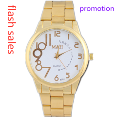 Watches Watch Watchs Watched Watches Men Watch Men Stainless Steel Strap Large Dial Quartz Watches gold normal