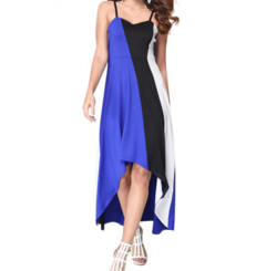 Dresses Women For Dresses Ladies Sexy Dress With Stitching Stripes Dress For Women s blue