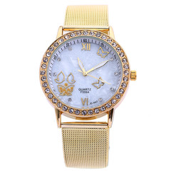Watches watche Watchs Watched Watches Women Watch Ladies Geneva Golden Butterfly Diamond Watche gold normal