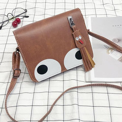 Handbags Ladies Handbags Women Single Shoulder Ba With Fringed Small Square And Oblique Shoulder Bag brown normal