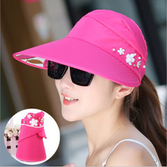 Sun Hats Ladies Sun Caps Hat Ladies Sun Hats Women With Big Heads Beach Hat For Women red