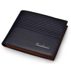 Wallets Men High Quality Vintage Men Wallet-Leather Luxury Short Male Clutch Wallet blue normal