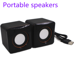 Computer Speakers USB Speakers Wired Speaker Computer Small speaker Portable Pair Of Mini Speaker black