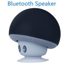 Bluetooth Speaker Mushroom Style Wireless Music Bluetooth Speakers Mini Speaker With Suction Cup black