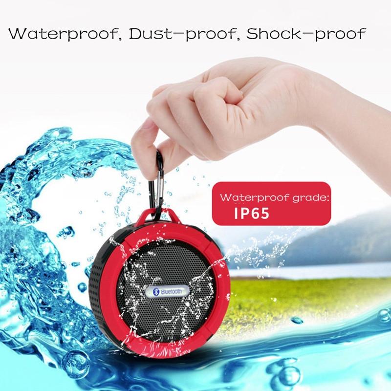 Bluetooth Speakers Waterproof Bluetooth Speaker Bass Wireless Bluetooth Speaker Portable red normal 6