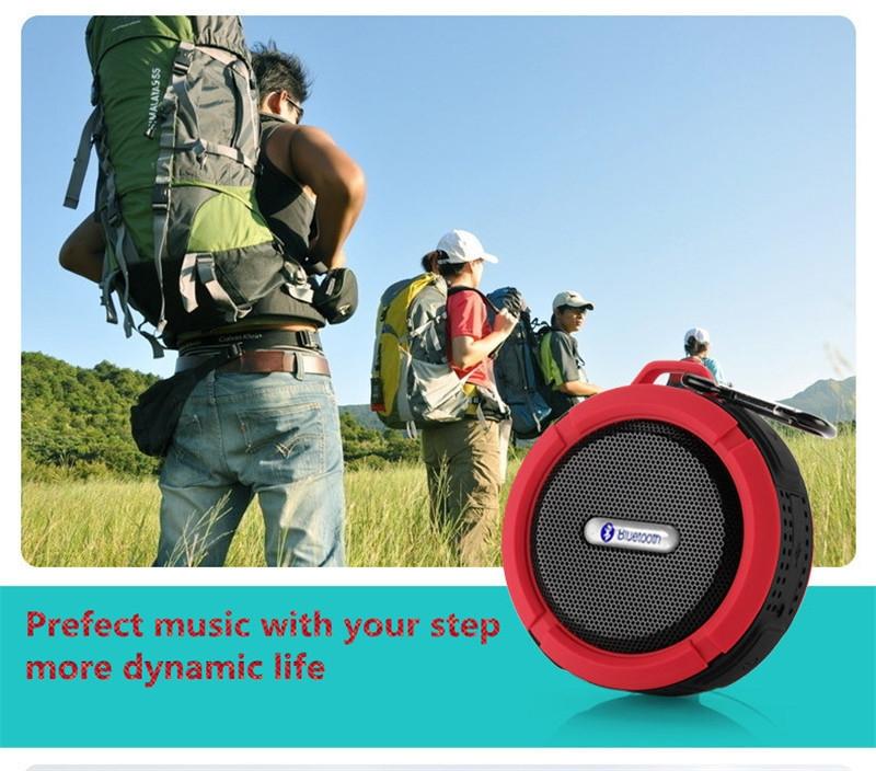 Bluetooth Speakers Waterproof Bluetooth Speaker Bass Wireless Bluetooth Speaker Portable red normal 9